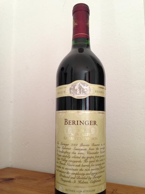 Wine Review: 2001 Beringer - Private Reserve Cabernet Sauvignon - Napa Valley | Vino in Love | Vino in Love | Scoop.it