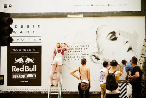 Redbull crée la première pub que les passants complètent eux-mêmes !       |  WonderfulBrands | Kitty news | Scoop.it