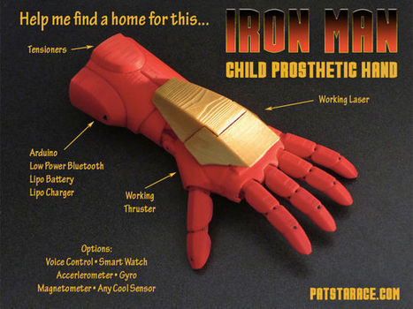 Iron Man Prosthetic Hand Will Make Kids Feel Like Superheroes | Assistive Technology | Scoop.it