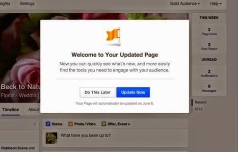 Facebook: dal 6 giugno 2014 al via con il nuovo layout delle pagine   Notizie da Diario di una Social Geek   Scoop.it