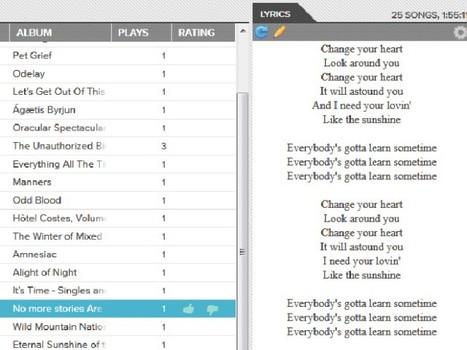 Google Music Lyrics, les paroles de tes chansons dans Google Music | Music | Scoop.it