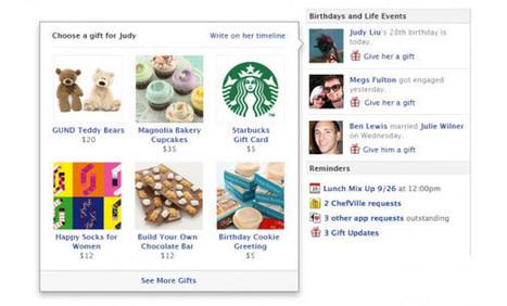 Facebook se (re)lance dans les cadeaux ! | Facebook pour les entreprises | Scoop.it