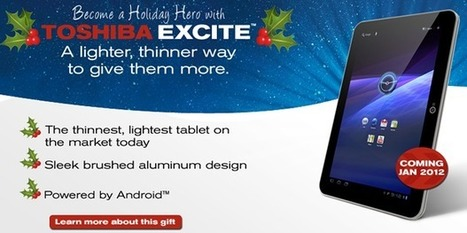 Toshiba Excite Android tablet coming in January | Technology and Gadgets | Scoop.it