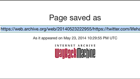 Manually Archive Web Pages by Submitting Them to the Wayback Machine | Bazaar | Scoop.it