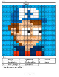 Dipper Pines- Gravity Falls Subtraction | Coloring Squared | Scoop.it