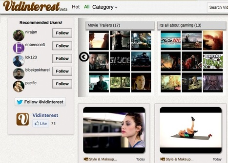 Curate Your Video Playlists with a Pinterest for Videos-Only: Vidinterest | Moodle and Web 2.0 | Scoop.it