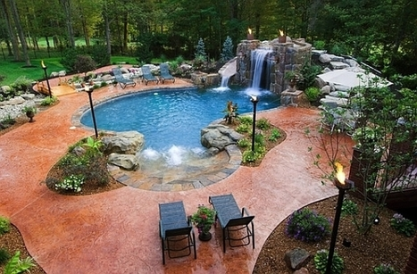 A Cool Pool Deserves A Cool Backyard | SWIMMING | Scoop.it