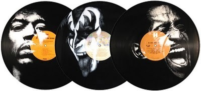 Vinyl Art - Painted Portraits Of Musicians & Entertainers On Records By Daniel Edlen | Art, Design & Technology | Scoop.it