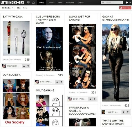 Lady Gaga's Social Network Opens to All the Little Monsters | An Eye on New Media | Scoop.it