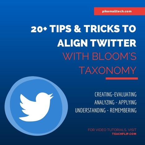 You Didn't Believe You Could Align Twitter With Bloom's Taxonomy - Then You Saw This... - PikeMall Tech | Bloom's Taxonomy, TPACK, Multiple Intelligences, etc. Resources | Scoop.it