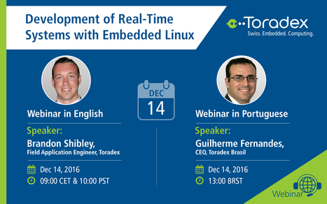 Webinar: Development of Real-Time Systems with Embedded Linux | Toradex Computer Modules | Scoop.it