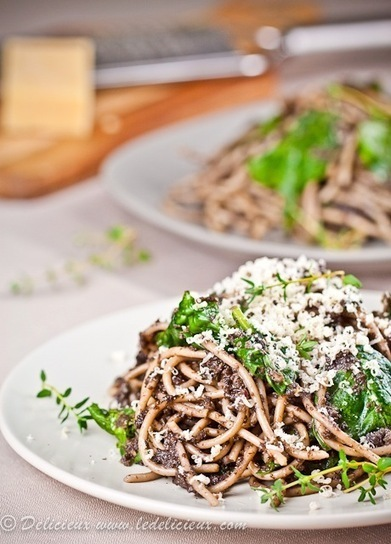 Mushroom Spaghetti recipe | Vegetarian recipes and cooking | Scoop.it