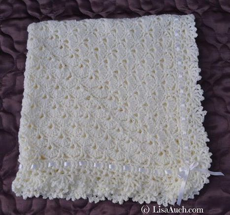 Unique Crochet Baby Shawl Blanket Pattern Perfect Gift for a newborn | Free Crochet Patterns and Designs by LisaAuch | Crochet Crochet Crochet.... | Scoop.it