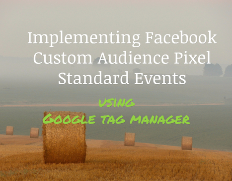 Facebook custom audience pixel Standard Events implementation using Google Tag Manager! - Geek-O-Nation   Google Tag Manager   Scoop.it