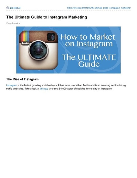 The Ultimate Guide to Instagram Marketing | Business Process Management | Scoop.it