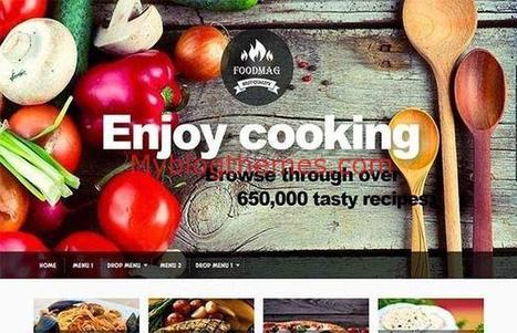Responsive Cooking Blogger Theme Download | Blogger themes | Scoop.it