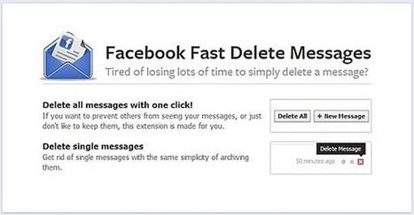 Astuce: Supprimer son historique de conversation FacebookSocial Tips | Social Media : que faut-il savoir ? | Image Digitale | Scoop.it