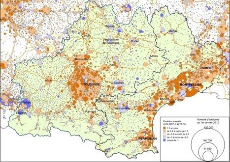Union des régions Languedoc-Roussillon et Midi-Pyrénées: 5,6millions d'habitants - Insee, janvier 2015 | Economie agricole de Midi-Pyrénées | Scoop.it