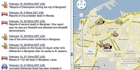 Protests In Libya, Bahrain Visualized Using Twitter, Google Maps by Catharine Smith   Twit4D   Scoop.it