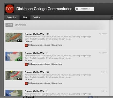 Dickinson College Commentaries - YouTube | Net-plus-ultra | Scoop.it