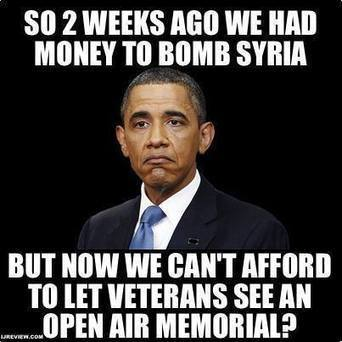 2 weeks ago Obama had money to bomb Syria&we arm terrorists,but now.... | Littlebytesnews Current Events | Scoop.it