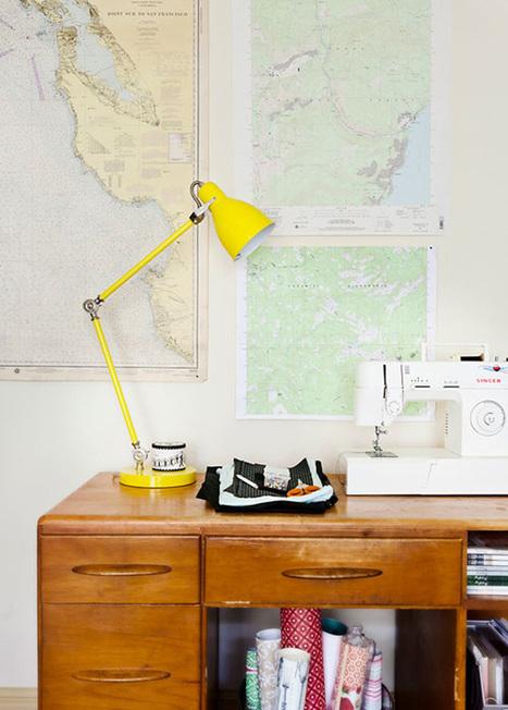 Happy Interior Blog: Wanderlust: Decorating With Maps | Wanderlust | Scoop.it