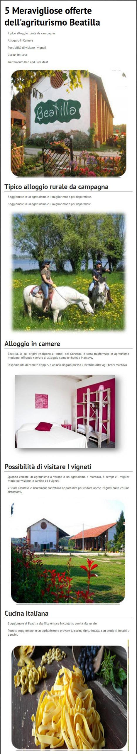 5 Meraviglioseoffertedell'agriturismoBeatilla - www.agriturismobeatilla.it | Agriturismo beatilla | Scoop.it