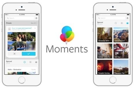 Facebook supprimera vos photos si vous n'installez pas son appli Moments | La Boîte à Idées d'A3CV | Scoop.it