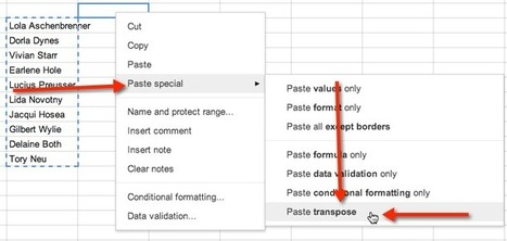 Google Spreadsheets: Transpose in 2 easy steps | Educational Tech | Scoop.it