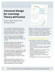 An Updated Take on Universal Design for Learning | Recognizing ... | Universal Design for Learning and Curriculum | Scoop.it