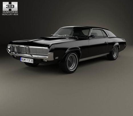 3D model of Mercury Cougar XR-7 1969   3D models   Scoop.it