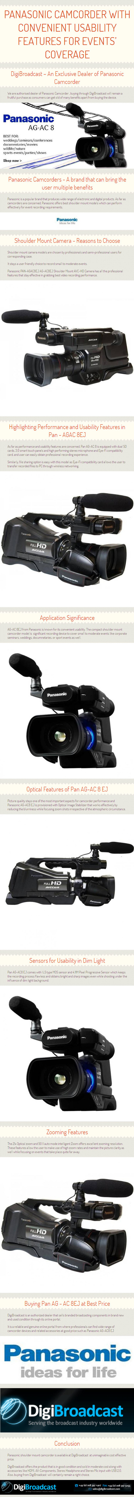 Panasonic Camcorder with Convenient Usability Features for Events' Coverage – By www.digibroadcast.com | digibroadcast | Scoop.it