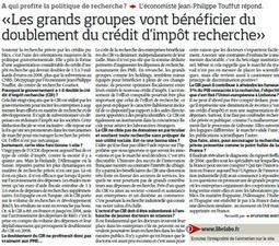 Le Crédit d'impot recherche ? On savait... | Enseignement Supérieur et Recherche en France | Scoop.it