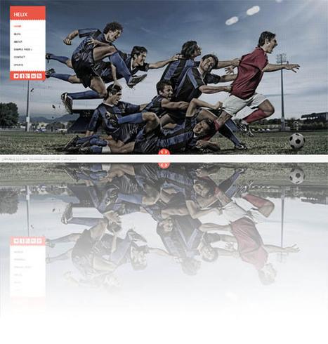 Helix, Free WordPress FullScreen Portfolio Theme | WP Download | Test | Scoop.it