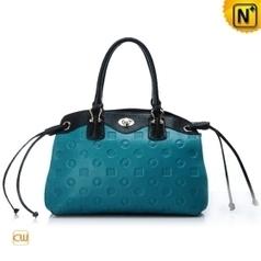 Women Blue Leather Handbags CW276857 - cwmalls.com   Women leather bags   Scoop.it