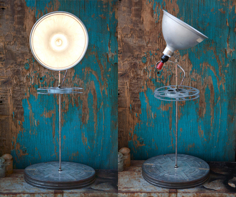 Hollywood Reel Upcycled Lamp | Recyclart | 1001 Light ideas ! | Scoop.it