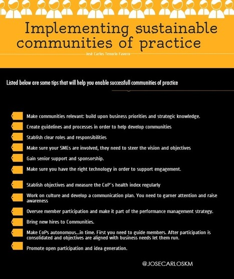 Implementing sustainable communities of practice | KM Insights | Scoop.it