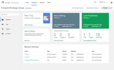 Google Analytics Launches New Set Of Tools For Tag Manager Users | MarketingHits | Scoop.it