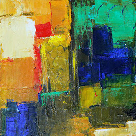 """Abstract Painting, """"Gleam"""" ORIGINAL MINI Contemporary Art by ... 