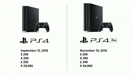[Résumé de la conférence Sony] Nouvelle PS4 et PS4 Pro : les prix et les dates ! | Bons plans | Scoop.it
