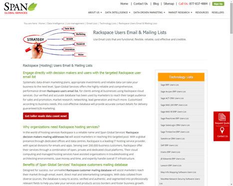 Get customized Rackspace customer list to increase business sales and earn profitable revenue | Digital Marketing | Scoop.it