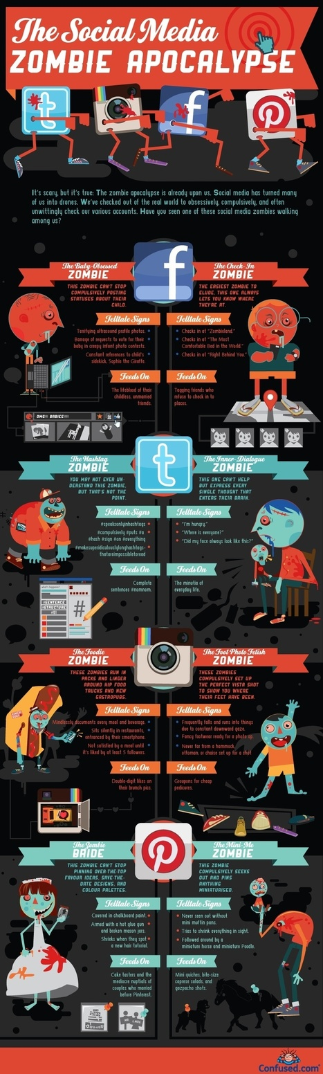 Has Social Media Turned You into a Zombie? [INFOGRAPHIC] | Social Media Butterflies | Scoop.it