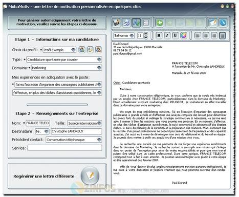 MobaMotiv - générateur de lettre de motivation gratuit | Les trouvailles de Froggy'Net | Scoop.it