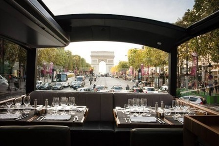 Bustronome : diner dans un bus en visitant Paris ! | Socialart | Scoop.it