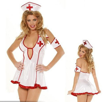 Sexy Strapless Nurse Style Maid Uniform Costume Set -US$ 15.99 | women fashion accessories | Scoop.it