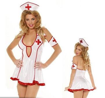 Sexy Strapless Nurse Style Maid Uniform Costume Set -US$ 15.99 | women fashion accessories | Scoop.it