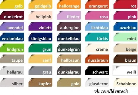 Die Farben | Angelika's German Magazine | Scoop.it