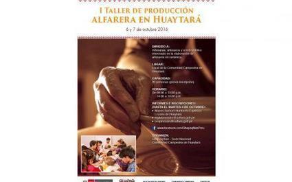 I Taller de producción ALFARERA en Huaytará | Qhapaq Nan Sede Nacional | Un vistazo de la actividad cultural peruana | Scoop.it