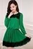 3/4 Sleeve Chiffon A-line Dress - OASAP.com | Oasap street fashion | Scoop.it
