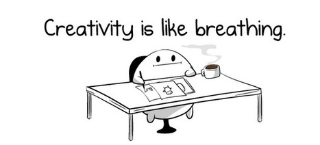 Creativity is like breathing - The Oatmeal | Stress-Less, Create More | Scoop.it